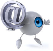 Eye with email — Stock Photo