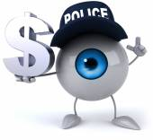 Eye with dollar sign — Stock Photo