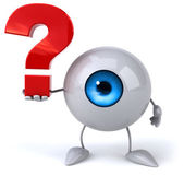 Eye with question sign — Stock Photo