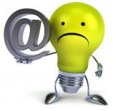 Lamp met e-mail — Stockfoto
