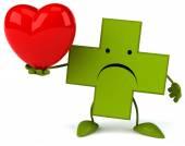 Farmacia Cruz con corazón — Foto de Stock