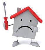 House with screwdriver — Stock Photo