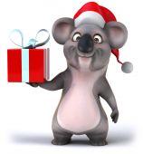 Koala with gift — Stock Photo