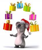 Koala with gifts — Stock Photo