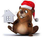 Beaver with house — Stock Photo