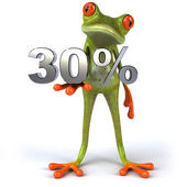 Frog with 30 percents — Stock Photo