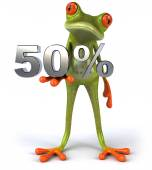 Frog with 50 percents — Stock Photo
