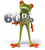 Frog with 60 percents — Stock Photo