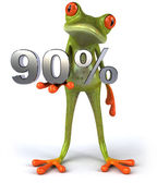 Frog with 90 percents — Stock Photo