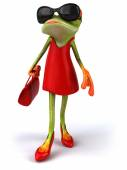 Frog in red dress — Stock Photo