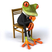 Frog in suit — Stock Photo
