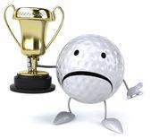 Golf topuyla Kupası — Stok fotoğraf