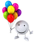 Golf ball with balloons — Foto de Stock
