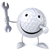 Golf ball with Wrench — Stockfoto