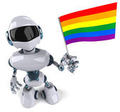 Robot with rainbow flag — Photo