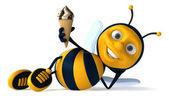 Bee with ice-cream — Stock Photo
