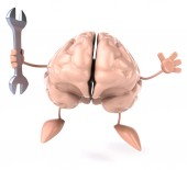 Brain with wrench — Stock Photo