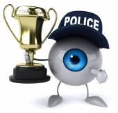 Eye with golden cup — Stock Photo