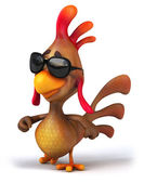 Chicken in sunglasses — Photo