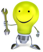 Light bulb with Wrench — Stock Photo