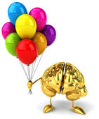 Brain with balloons — Stock Photo
