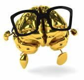 Cérebro dourado — Fotografia Stock