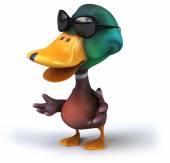 Duck in sunglasses — Stok fotoğraf