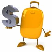 Suitcase with dollar sign — Stock Photo