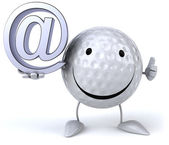 Golf ball with email — Stock Photo