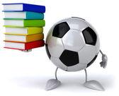 Football ball with books — Foto de Stock