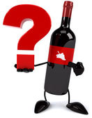 Wine with question sign — Stockfoto
