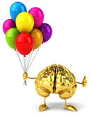 Brain with balloons — Stock Photo