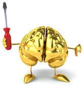 Brain with Screwdriver — Stock Photo