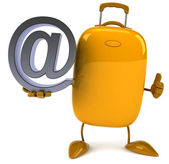 Suitcase with email sign — 图库照片