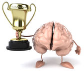 Brain with golden cup — Stock Photo
