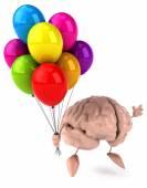 Brain with balloons — ストック写真