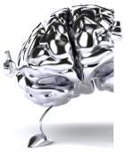 Silver brain — Stock Photo