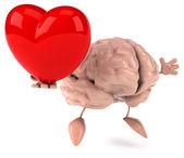 Brain with heart — Stock Photo