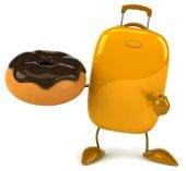 Suitcase with donut — Foto Stock
