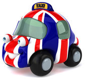 Car with flag of united kingdom — Stock Photo