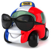 Taxi with flag of France — Stock Photo
