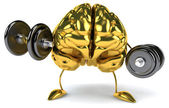Brain  with dumbbells — Foto Stock