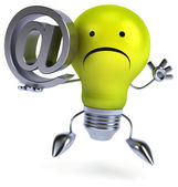 Light bulb with email sign — Stock Photo
