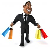 Businessman with shopping bags — Stock Photo