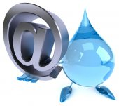 Water drop with email — Stock Photo