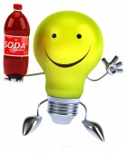 Light bulb with soda — Stock Photo