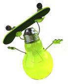 Light bulb skater — Stock Photo
