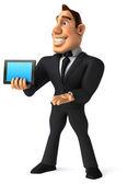 Hombre de negocios con tablet — Foto de Stock