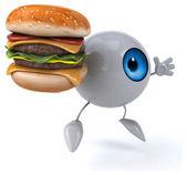 Eye with hamburger — Stock Photo