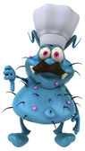 Blue germ cook — Stock Photo